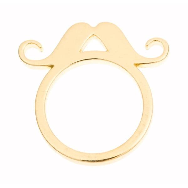 Prsten Gold Moustache