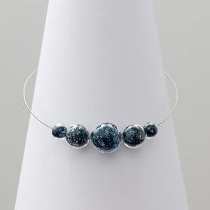 Modrý skleněný náhrdelník ko–ra–le Wired 6