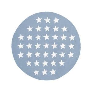 Covor artizanal Kayoom Peony 823 Pastelblau, ⌀ 120 cm, albastru - alb