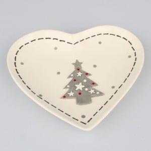 Keramická miska Dakls Christmas, 19 x 16,5 cm