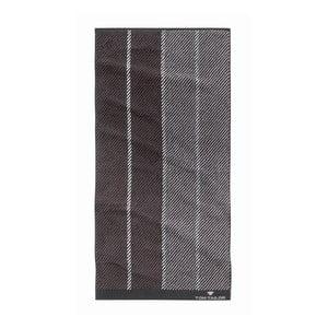 Ručník Tom Tailor Stripes Dark Grey, 50x100 cm