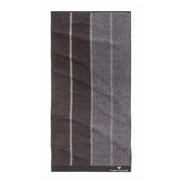 Ručník Tom Tailor Stripes Dark Grey, 70x140 cm