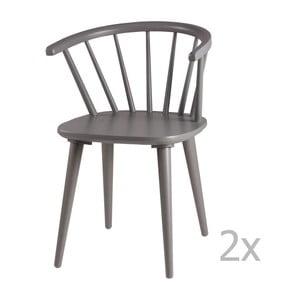 Set 2 scaune sømcasa Anya, gri