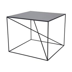 Černý konferenční stolek Take Me HOME Malbork, 55x55cm