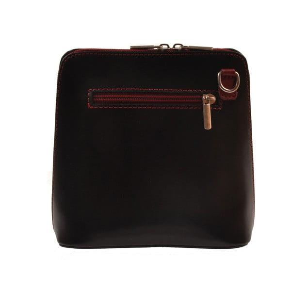 Kožená kabelka Vaire, černá