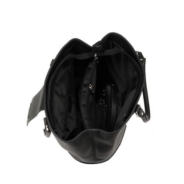 Kožená kabelka Emilio Masi Tabit Noir