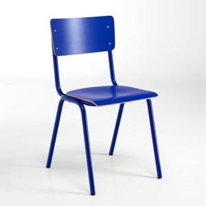 Sada 2 modrých jídelních židlí Tomasucci School