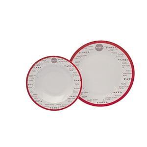 Porcelánová sada 12 talířů Pasta