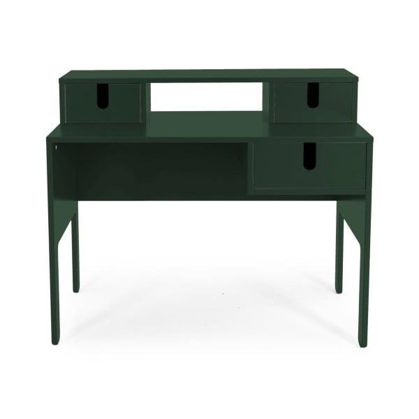 Tmavě zelený pracovní stůl se 3 šuplíky Tenzo Uno