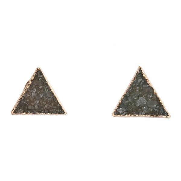 Náušnice z nazelenalých ametystových trojúhelníků Decadorn