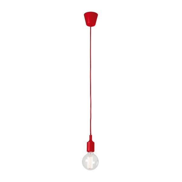 Červené závěsné svítidlo bez stínidla SULION Fiji