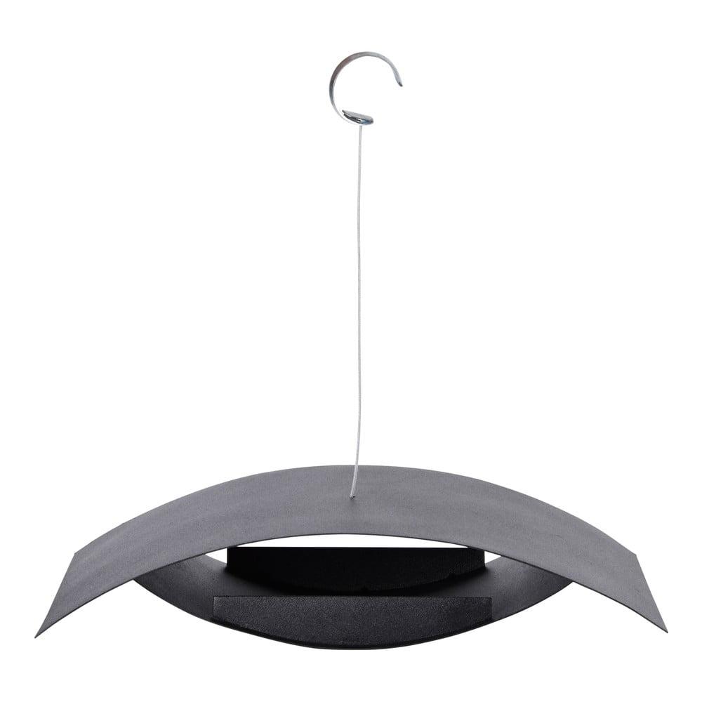 Černé závěsné krmítko Esschert Design Modern