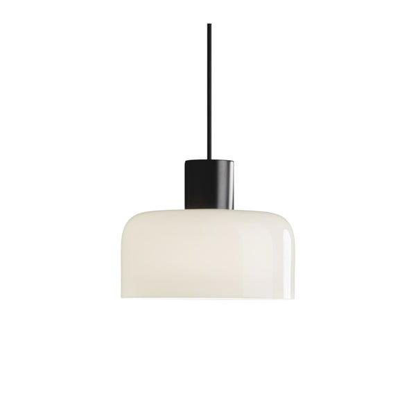 Čierno-biele závesné svietidlo Markslöjd Korona, ⌀30 cm