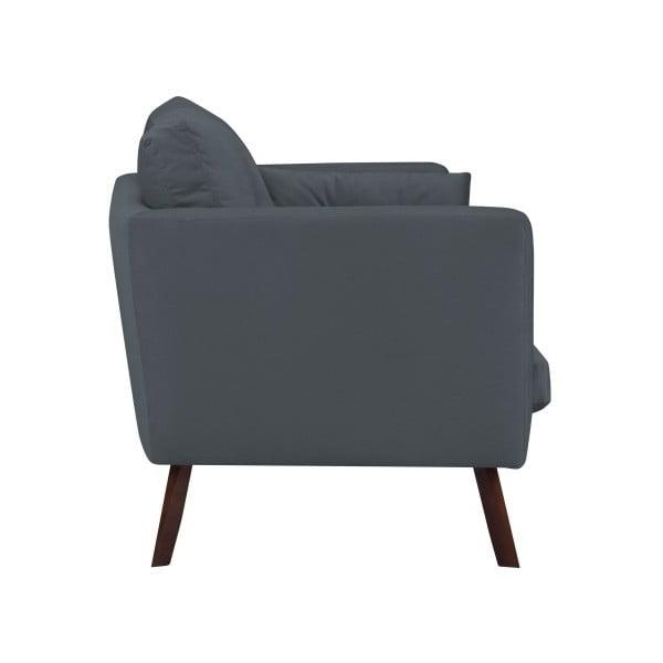 Canapea cu 3 locuri Mazzini Sofas Cotton, gri închis