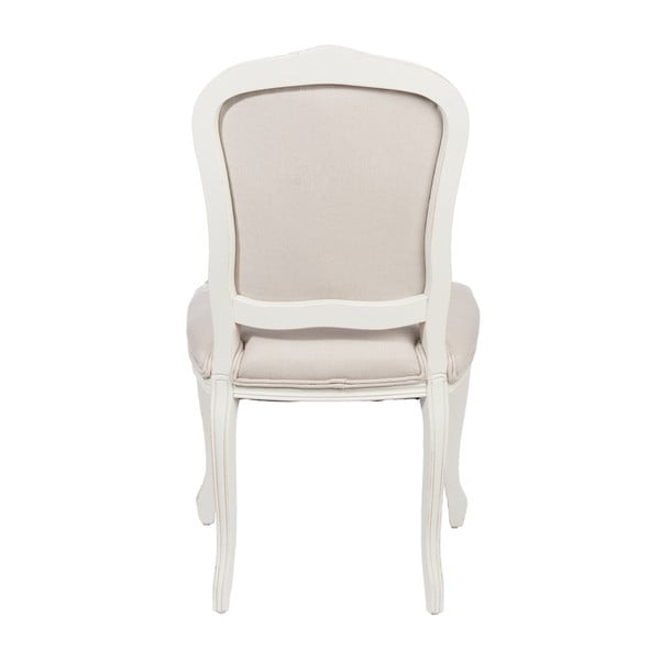Bílá židle Louis XV, šedá