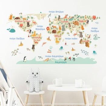 Autocolant de perete Ambiance Pastel World Map de la Ambiance