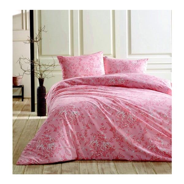 Lenjerie de pat cu cearșaf Molene, 220 x 240 cm, roz