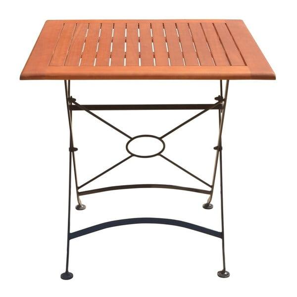 Vienna összecsukható kerti asztal, eukaliptuszból, hossza 75 cm - ADDU