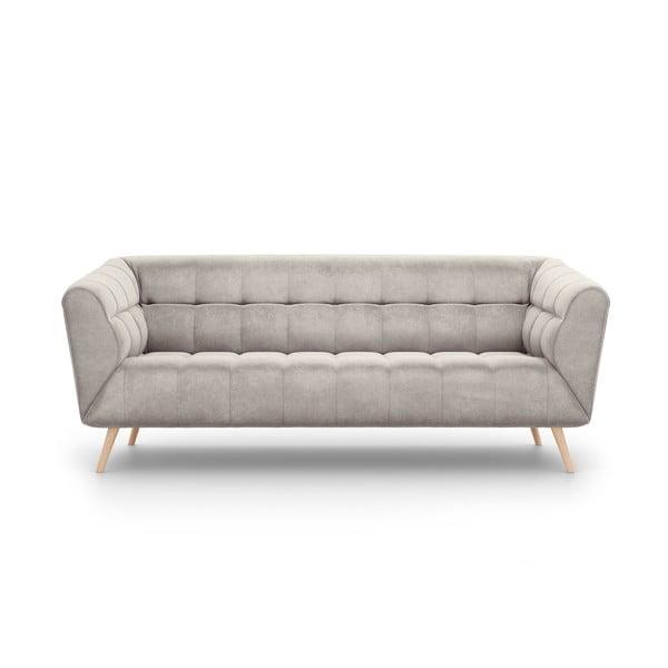 Étoile bézs bársony kanapé, 210 cm - Interieurs 86
