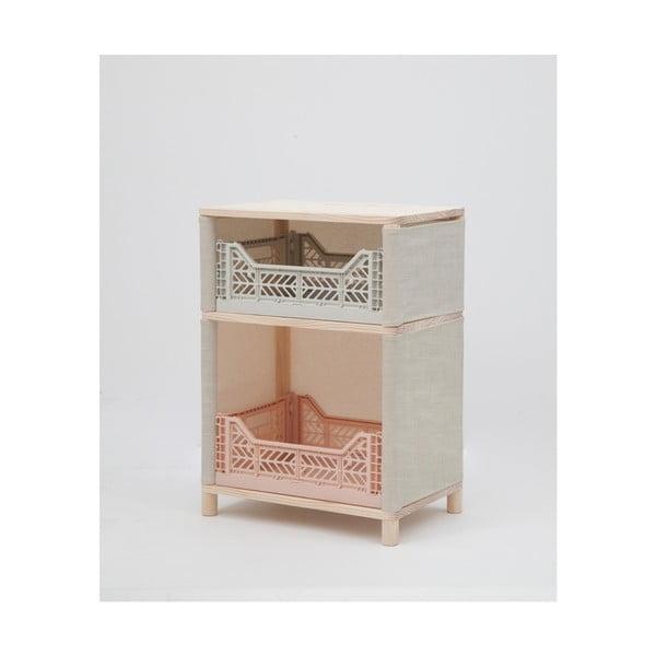 Skříňka zborovicového dřeva Little Nice Things Pink Brunna