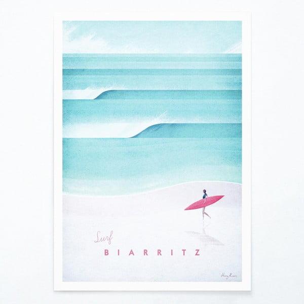 Plakát Travelposter Biarritz, A2