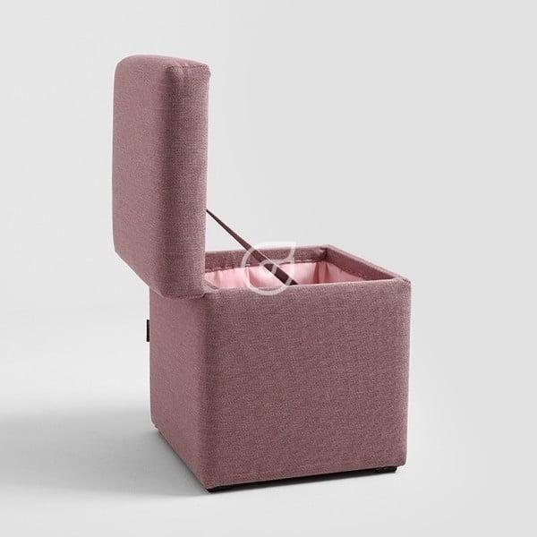Světle růžová taburetka Penny