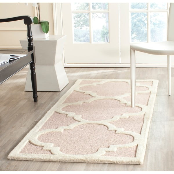 Vlněný koberec Clark 60x91 cm, růžový