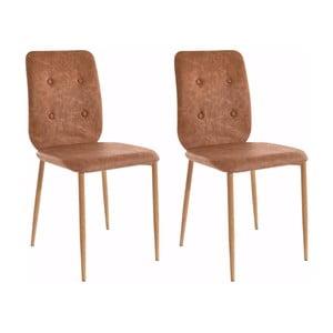 Sada 2 židlí Støraa Largo Cognak