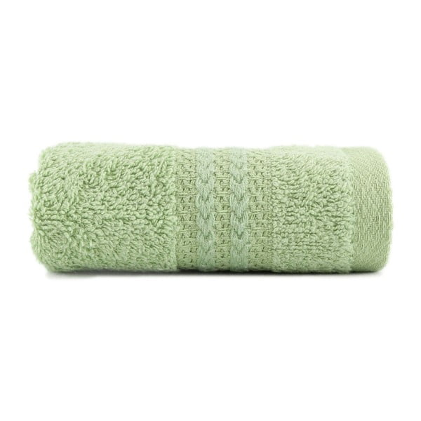 Zielony ręcznik z czystej bawełny Sunny, 30x50 cm