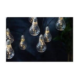 Bílý solární světelný LED řetěz Best Season Glow, 10 světýlek
