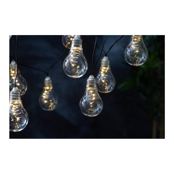 Biała solarna girlanda świetlna LED odpowiednia na zewnątrz Best Season Glow, 10 lampek