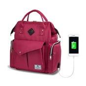 Rucsac maternitate cu port USB My Valice HAPPY MOM Baby Care, roz