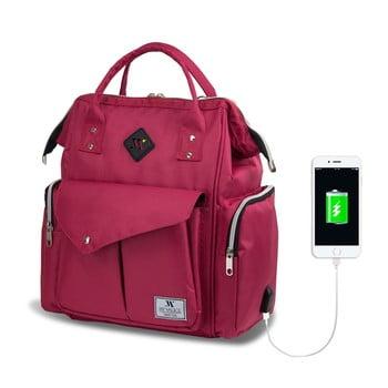 Rucsac maternitate cu port USB My Valice HAPPY MOM Baby Care, roz imagine
