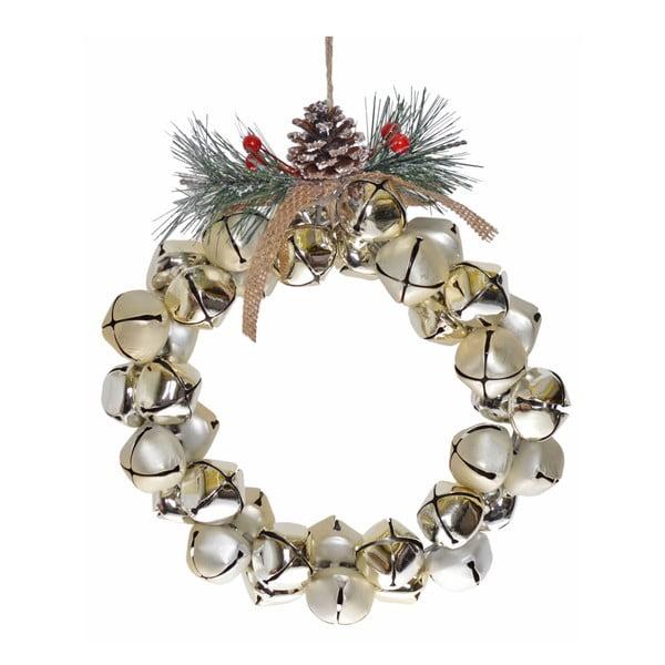 Závěsný dekorativní věnec Ewax Jingle Bells, ⌀20cm