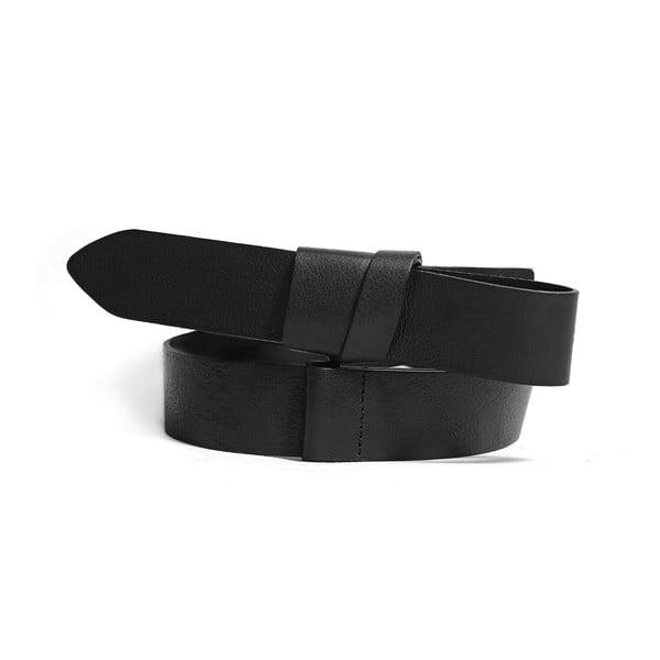 Nastavitelný kožený pásek Idon černý, 66 až 100 cm