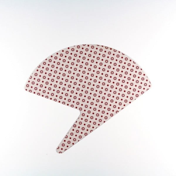 Bílo-červený papírový vějíř Calico