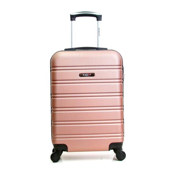 Světle růžový cestovní kufr na kolečkách BlueStar Bilbao, 35l
