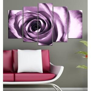 5dílný obraz Fialová růže