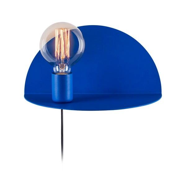 Niebieska lampa z półką Shelfie Anna, wys. 15 cm