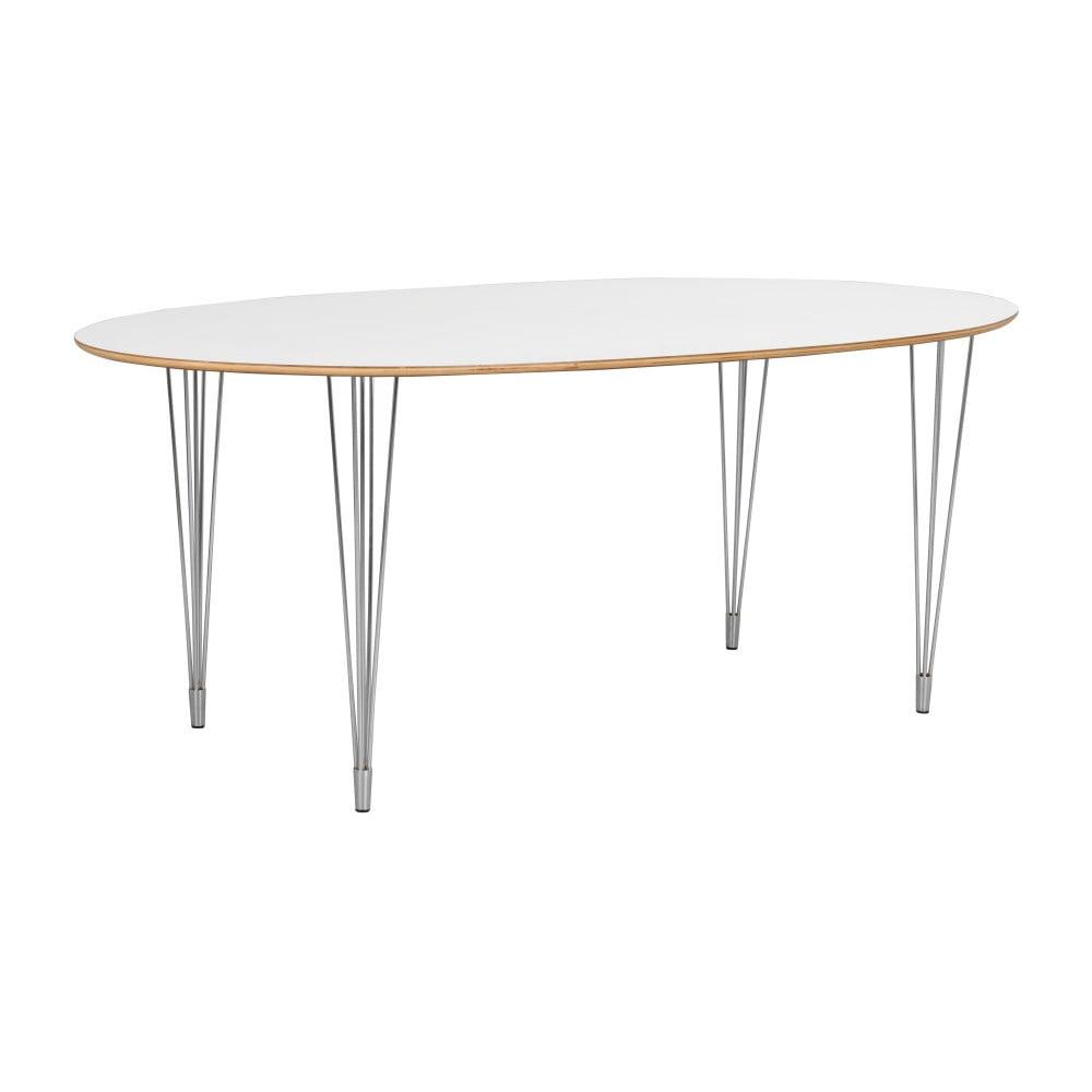 Bílý jídelní stůl Folke Abram