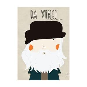 Plakát I want to be like Da Vinci
