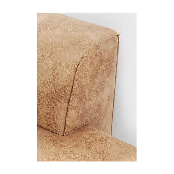 Hnědá lenošková část pohovky Kare Design Infinity, pravá část