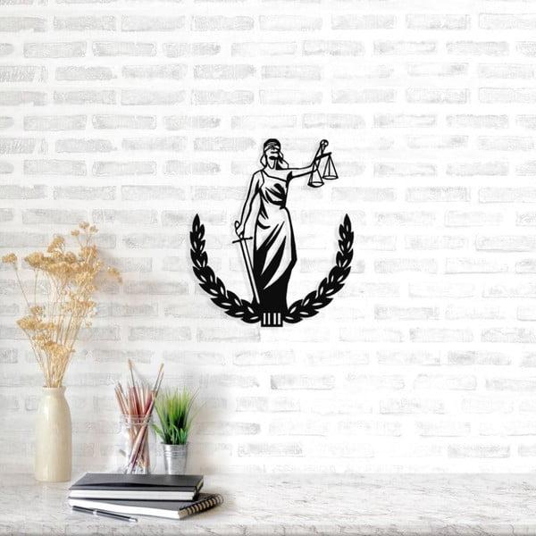 Černá kovová nástěnná dekorace Symbol of Justice Two, 49 x 57 cm