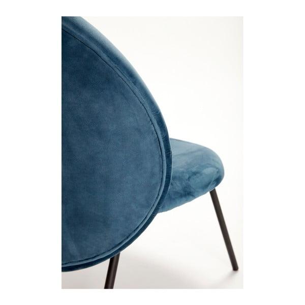 Modré křeslo Hübsch Abelone
