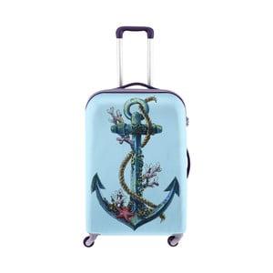 Modrý obal na kufr s motivem kotvy Oyo Concept, 76 x 49 cm