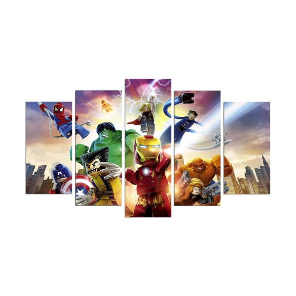 Tablou din 5 piese Marvel