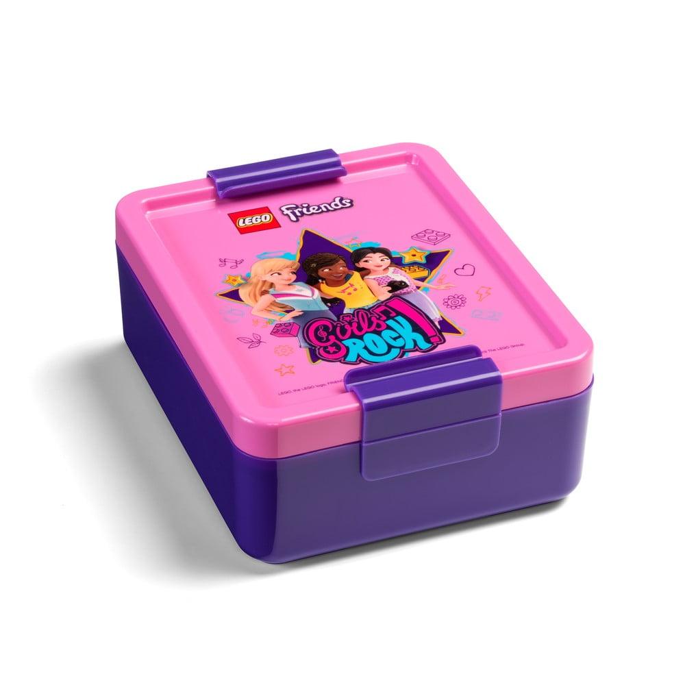 Plastová krabička na svačinu LEGO® Friends Girls Rock