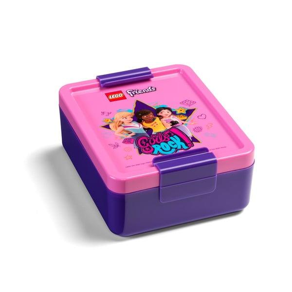 Plastová krabička nasvačinu LEGO® Friends Girls Rock