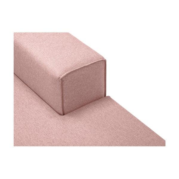 Růžová rohová čtyřmístná pohovka Cosmopolitan Design Cartegena, pravý roh