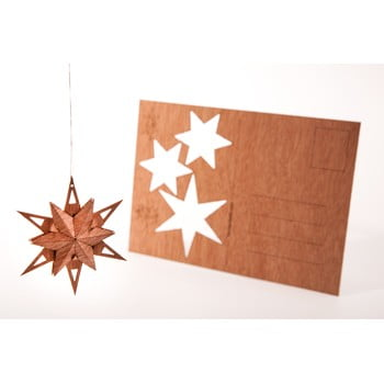 Carte poștală din lemn Formes Berlin Trojhvězda, 14,8 x 10,5 cm imagine